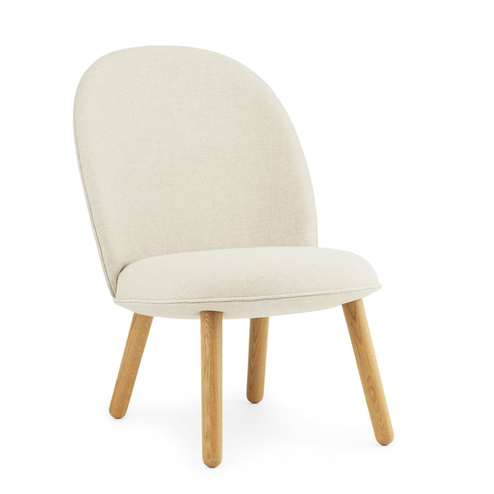 Ace Lounge Chair von Normann Copenhagen in Eiche / beige (Main Line Flax Upminster MLF 20)
