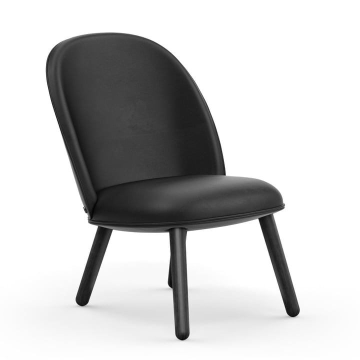 Ace Lounge Chair von Normann Copenhagen in Eiche schwarz / schwarz (Ultra Leather 41599)