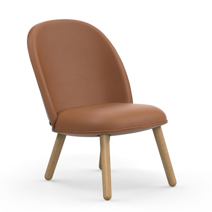 Ace Lounge Chair von Normann Copenhagen in Eiche / brandy (Ultra Leather 41574)