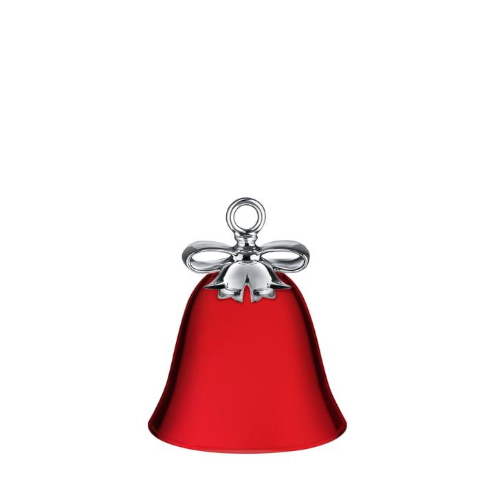 Dressed for X-Mas Weihnachtsschmuck von Alessi - Glocke / rot