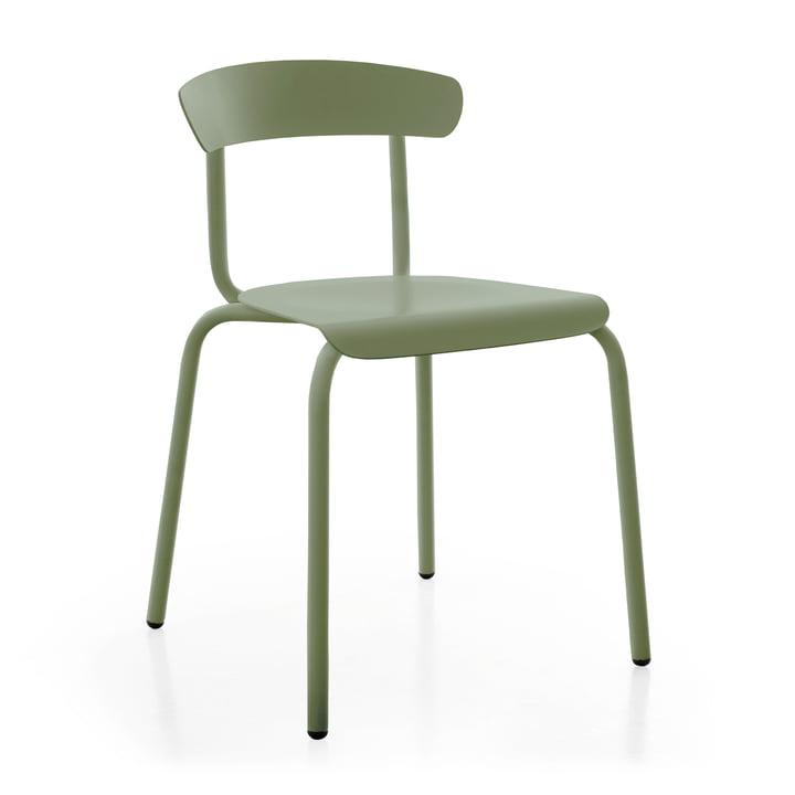 Alu Mito Outdoor Stuhl in blassgrün von Conmoto