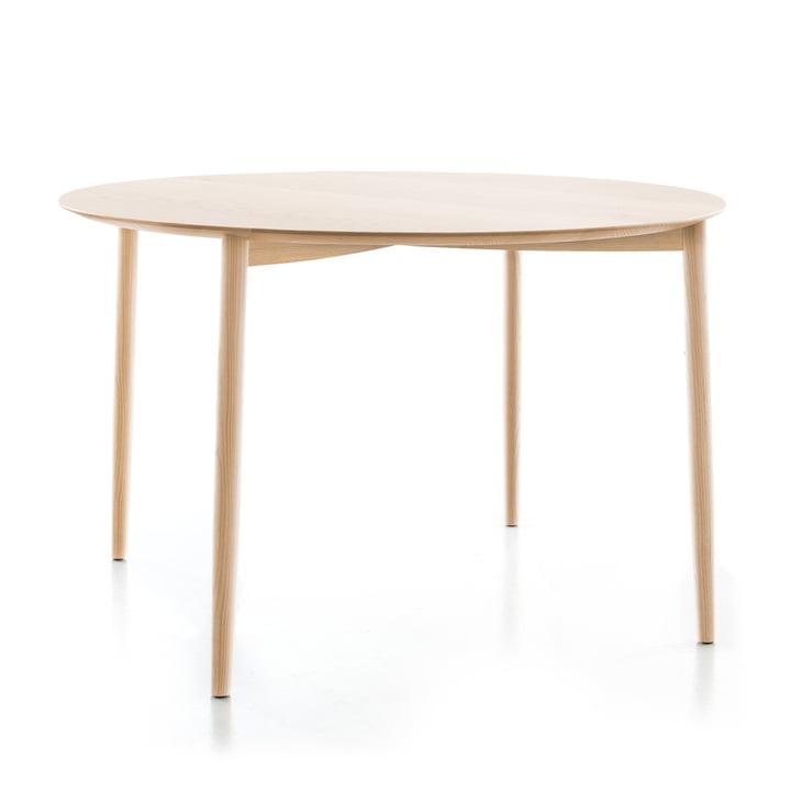 Mito Tisch, Ø 120 x H 74 cm von Conmoto in Eiche