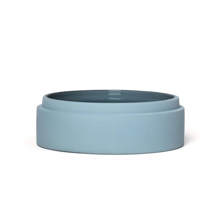 Scutra Schale, Ø 18 x H 4,5 cm, taubenblau matt von Conmoto