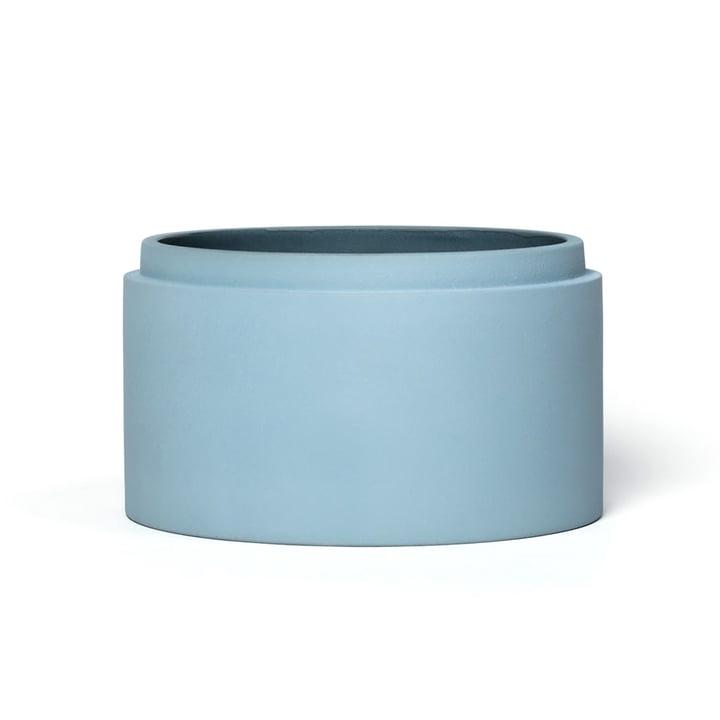 Scutra Schale, Ø 18 x H 9 cm, taubenblau matt von Conmoto
