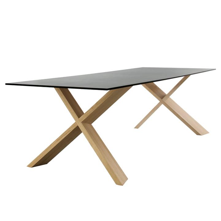 X-Man Tisch von Conmoto - 240 x 100 cm, HPL in anthrazit / Eiche