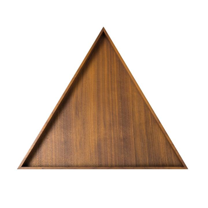 Karo Tablett, groß in Nussbaum von Conmoto