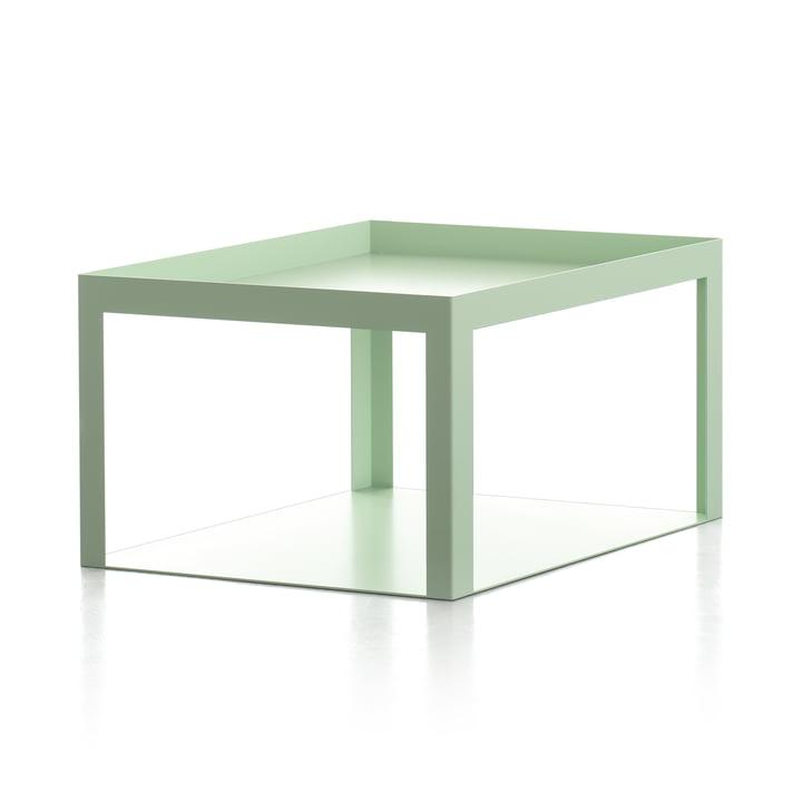 Karo Beistelltisch in weißgrün matt von Conmoto