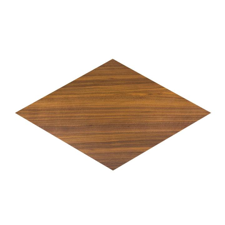 Karo Einlegeplatte in Nussbaum klar lackiert von Conmoto