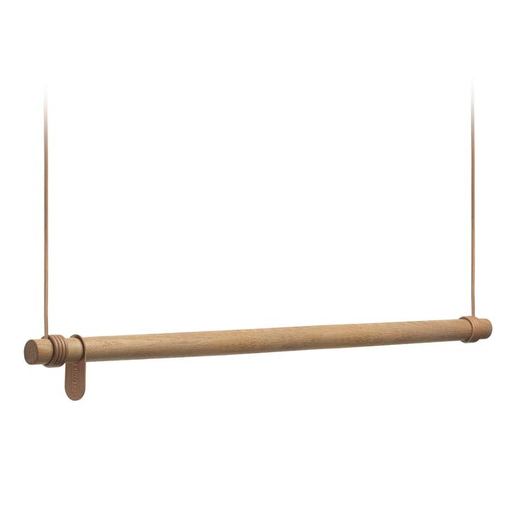 Swing Hängegarderobe von LindDNA - L (110 cm), Eiche natur / Leder natur
