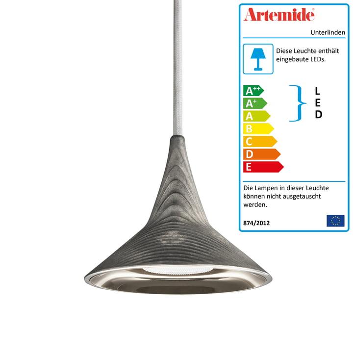 Unterlinden LED-Pendelleuchte von Artemide in Aluminium