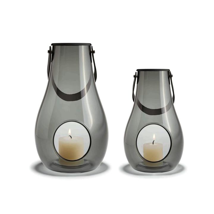 Design with light Laterne (2er-Set) H 16 cm + 25 cm von Holmegaard