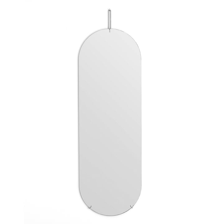 Wandspiegel oval von Moebe - 133 cm x 44 cm in Chrom