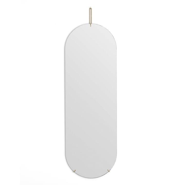 Wandspiegel oval von Moebe -133 cm x 44 cm in Messing