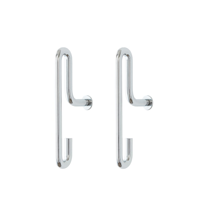 Wall Hook small von Moebe - Chrom (2er-Set)