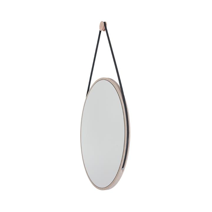 Schneider Spiegel von Objekte unserer Tage - 85 x 55 cm, Esche geölt / Stahlband schwarz