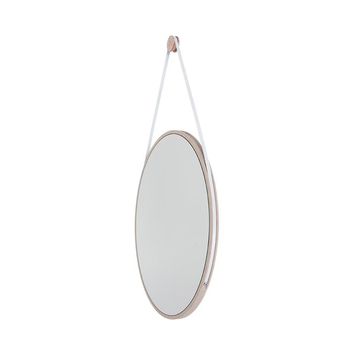 Schneider Spiegel von Objekte unserer Tage - 85 x 55 cm, Esche geölt / Stahlband weiß