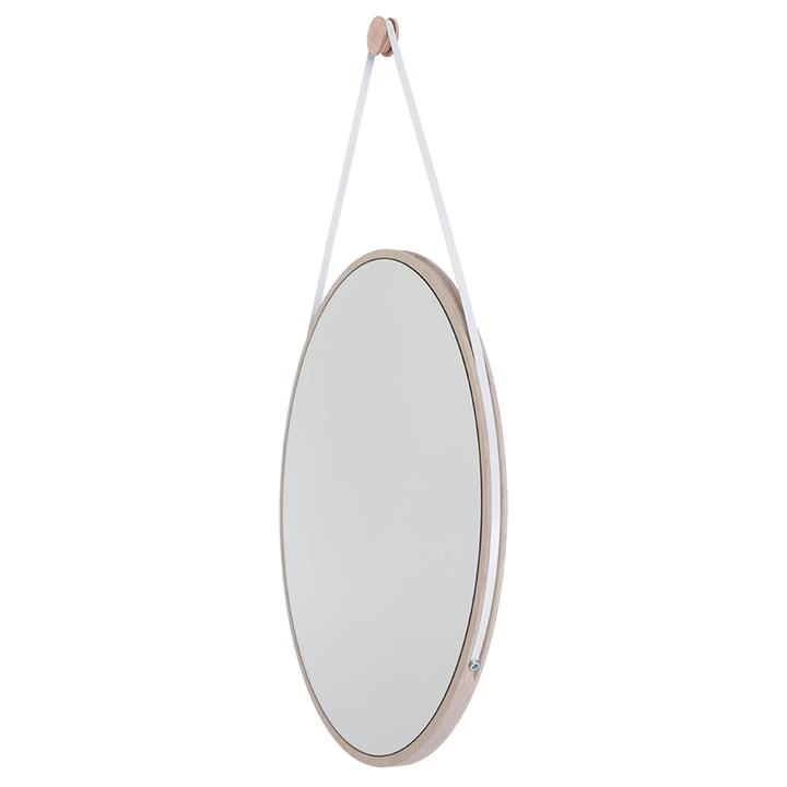 Schneider Spiegel von Objekte unserer Tage - 110 x 70 cm, Esche gewachst / Stahlband weiß