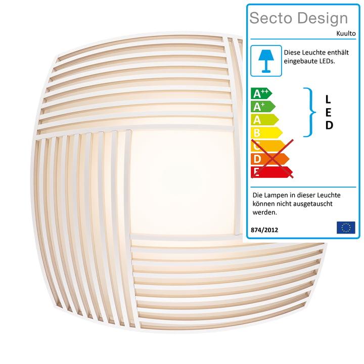 Kuulto 9100 LED Wand- und Deckenleuchte von Secto in weiß