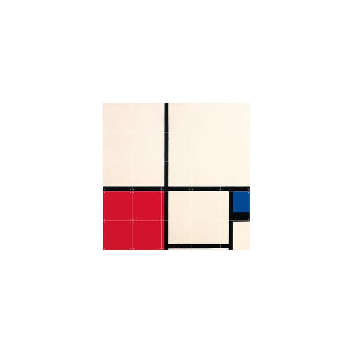 Composition in Colours (Mondrian) 100 x 100 cm von IXXI