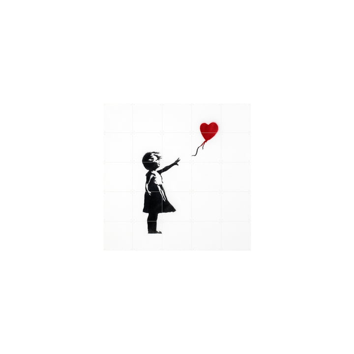 Girl with Balloon (Banksy) 100 x 100 cm von IXXI