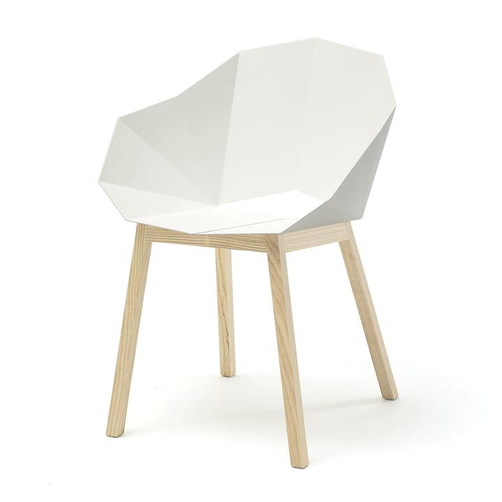 SeatshellArmchair von Frederik Roijé in Esche / weiß