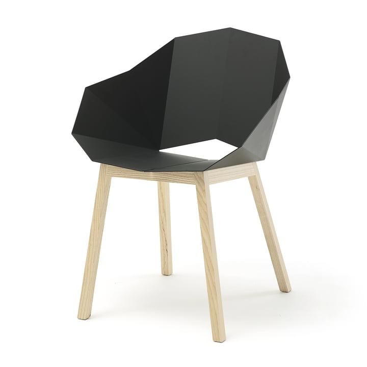SeatshellArmchair von Frederik Roijé in Esche / dunkelgrau