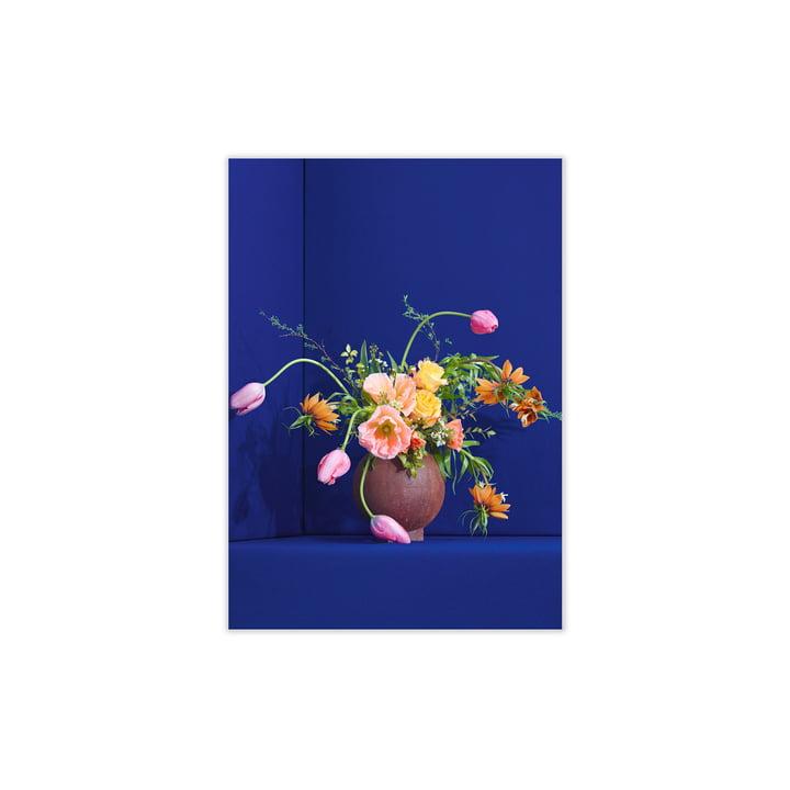 Blomst von Paper Collective, 30 x 40 cm in blau