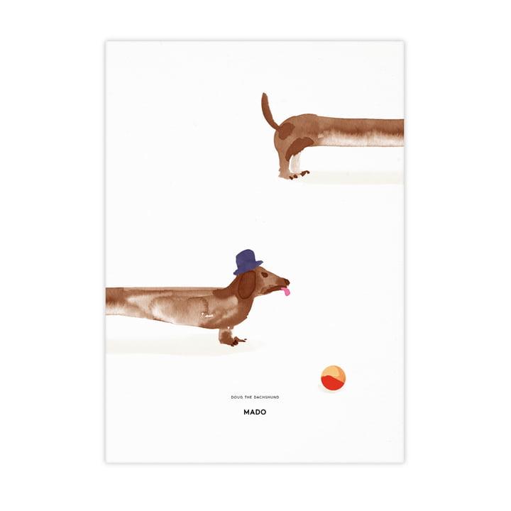 Doug the Dachshund von Paper Collective, 50 x 70 cm