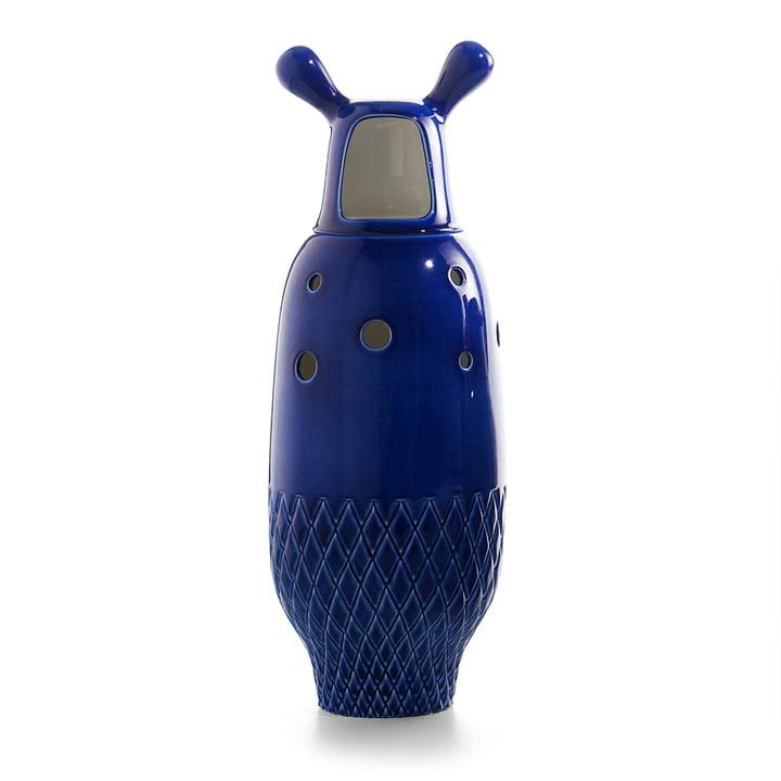 Showtime Vase, Nº 5 von BD Barcelona in innen weiß / außen napoleonblau