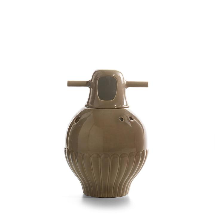 Showtime Vase, Nº 3 von BD Barcelona in innen weiß / außen graugrün