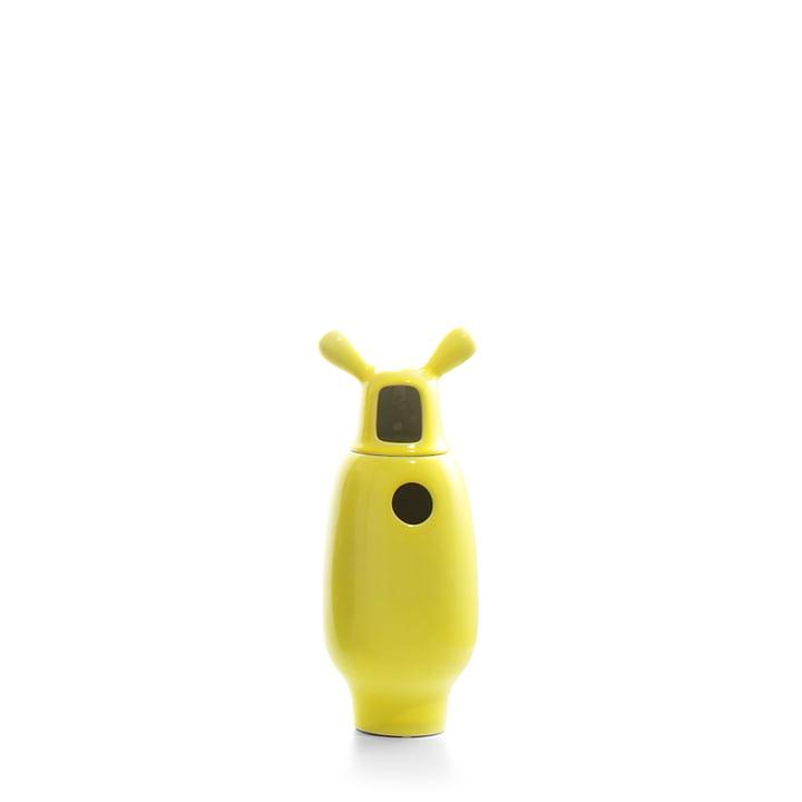 Showtime Vase, Nº 2 von BD Barcelona in innen weiß / außen gelb