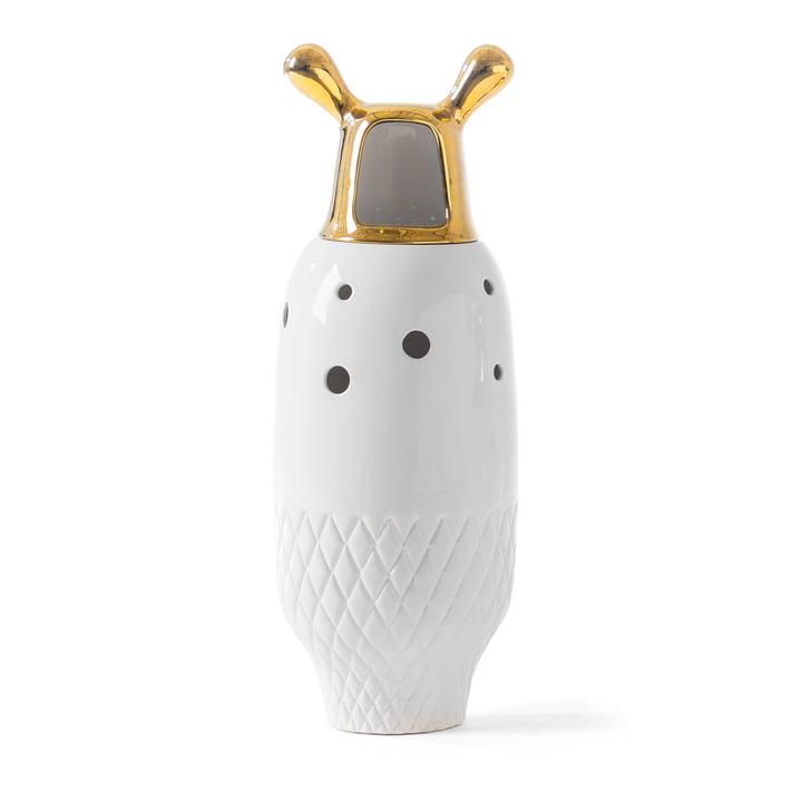 Showtime 10 Vase Nº 5 von BD Barcelona in weiß / Deckel gold