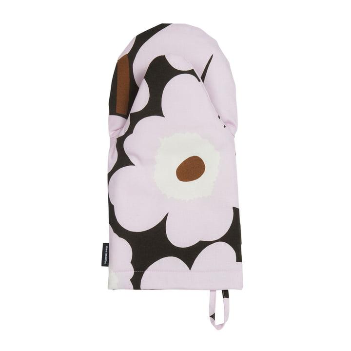 Pieni Unikko Ofenhandschuh von Marimekko in dunkelgrün / pink / braun