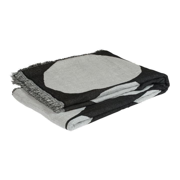 Kivet Wolldecke 140 x 190 cm von Marimekko in schwarz / weiß