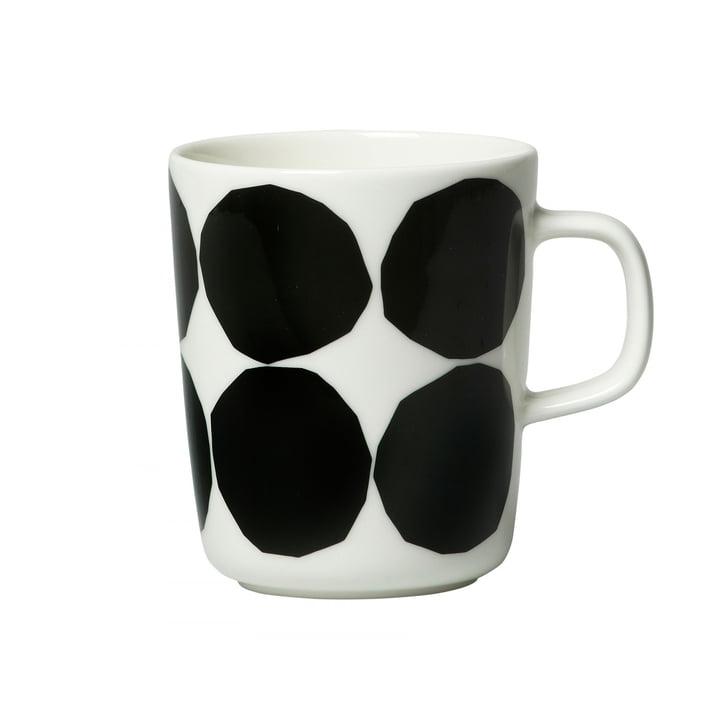 Oiva Kivet Becher mit Henkel von Marimekko, 250 ml in weiß / schwarz