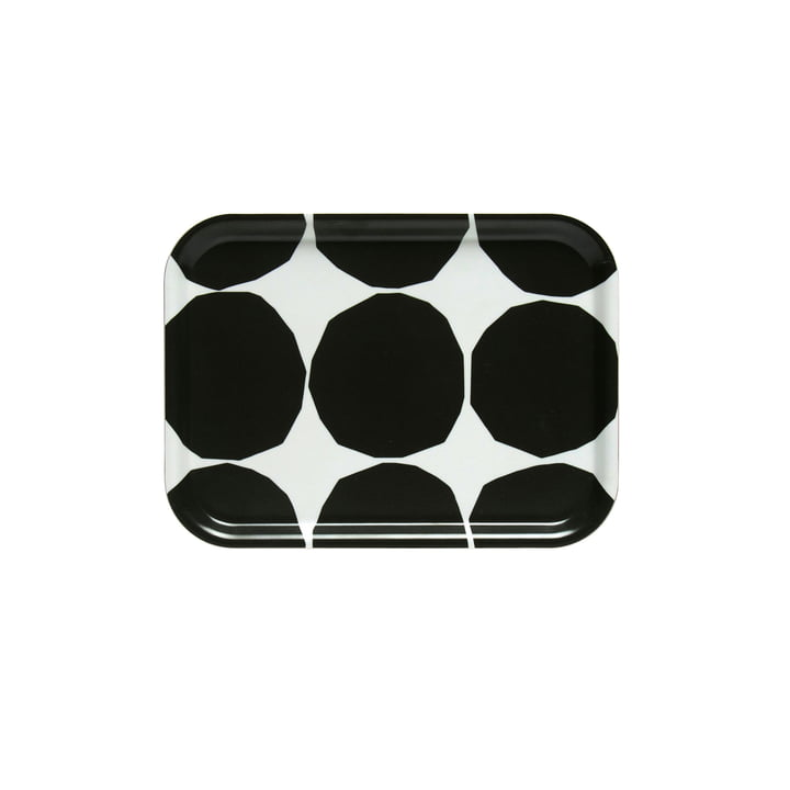 Kivet Tablett 27 x 20 cm von Marimekko in weiß / schwarz
