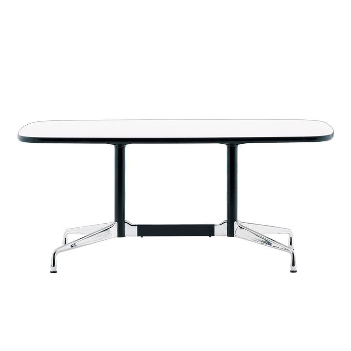 Eames Segmented Table 240 x 120 cm von Vitra in Aluminium poliert / weiß