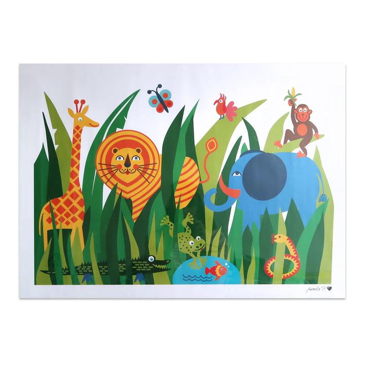 Dschungel Poster 50 x 70 cm von byGraziela