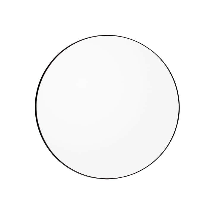 Circum Wandspiegel medium, Ø 90 cm in schwarz / klar von AYTM