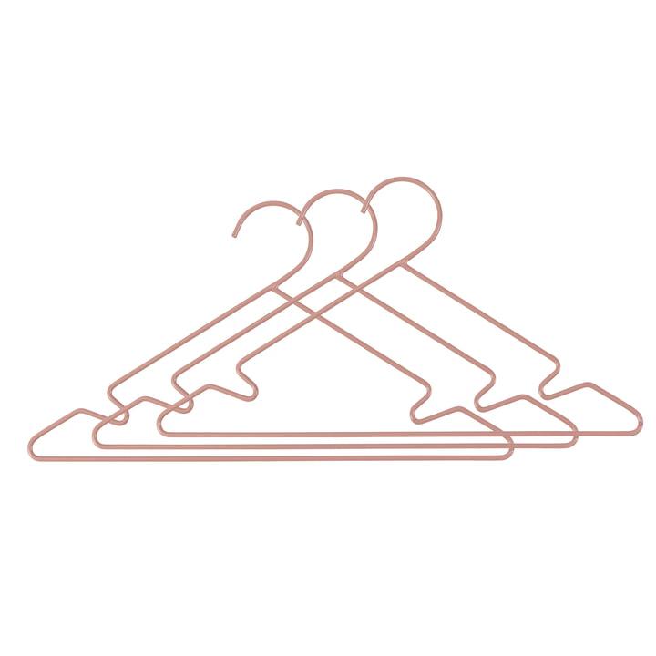 Metall Kinder-Kleiderbügel (3er-Set) von Sebra in rosa