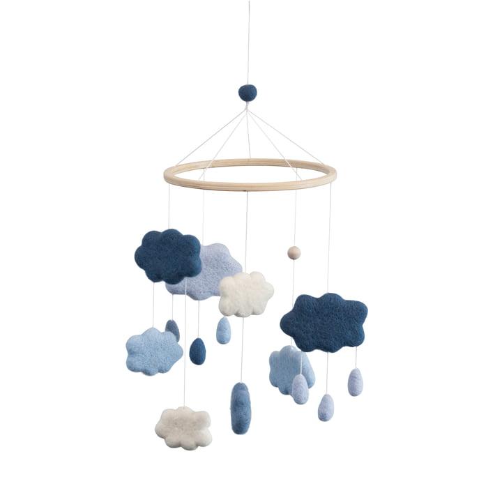 Baby Mobile Wolken von Sebra in blau