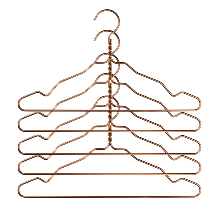Nomess - Alu Hanger mit Kerbe (5er-Set), kupfer