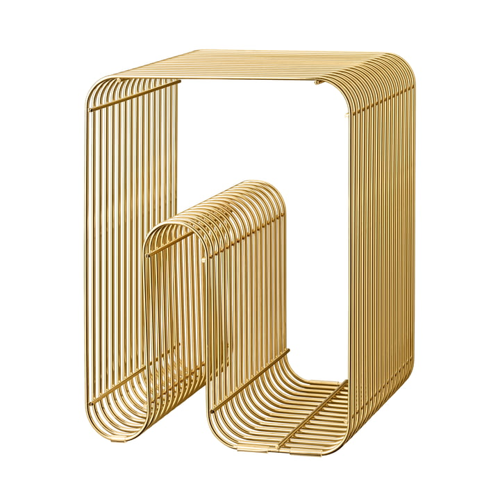Curva Hocker in gold von AYTM
