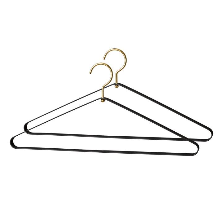 Vestis Kleiderbügel in schwarz / gold (2er-Set) von AYTM