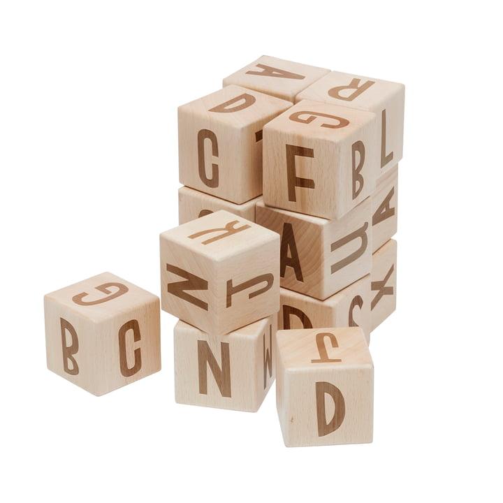 Buchstabenblöcke von Sebra in Buche