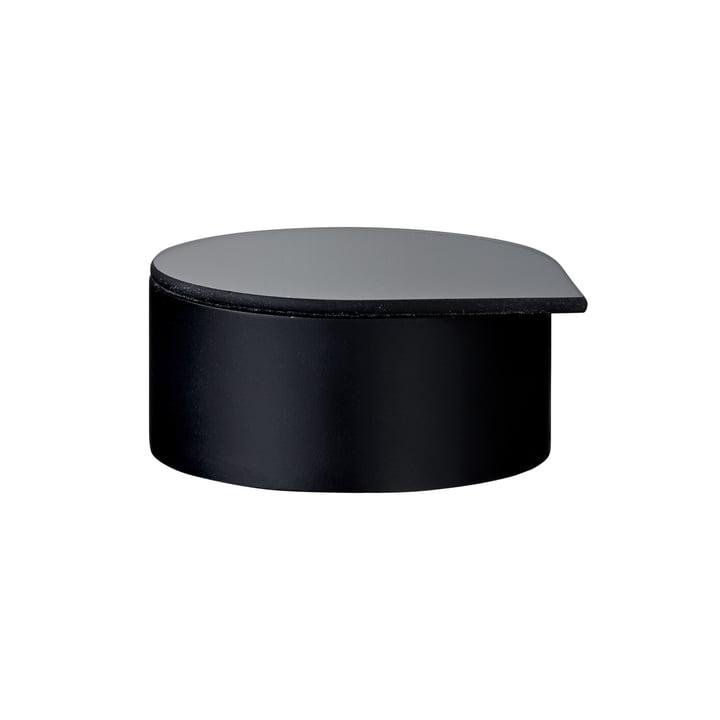 Gutta Schmuckbox mit Spiegel small in schwarz von AYTM