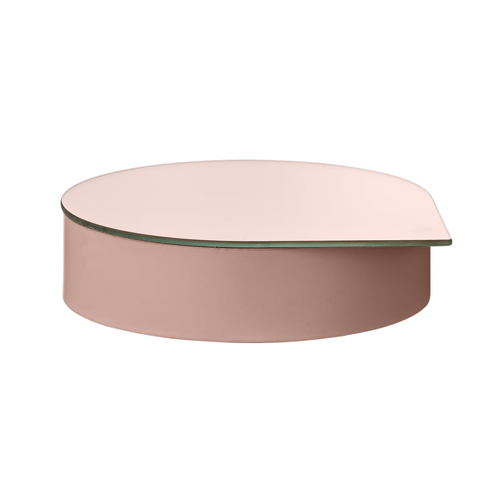 Gutta Schmuckbox mit Spiegel large in rose von AYTM