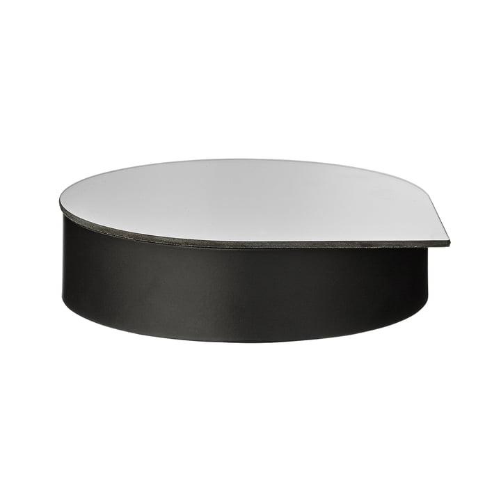 Gutta Schmuckbox mit Spiegel large in schwarz von AYTM