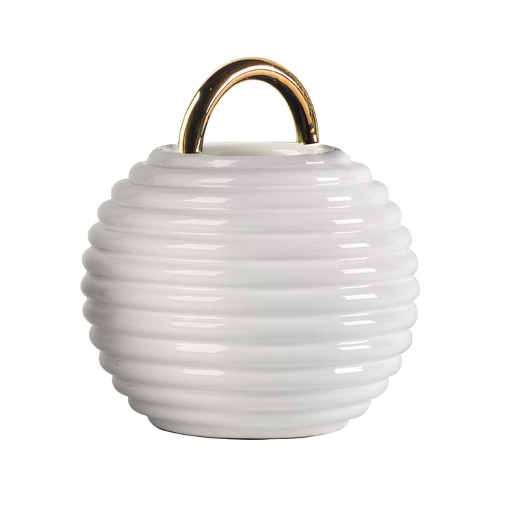 Grasso Vase einzeln von BD Barcelona in weiß
