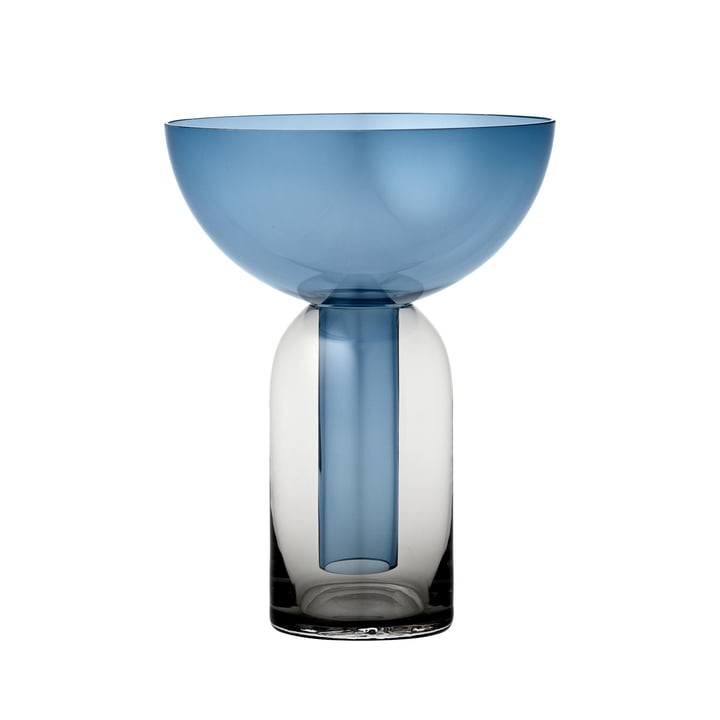 Torus Vase, schwarz / navy von AYTM
